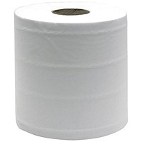 Maxima Centrefeed Rolls, 3-Ply, White, Pack of 6