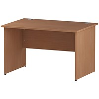 Trexus 1200mm Rectangular Desk, Panel Legs, Beech