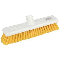 Robert Scott & Sons Abbey Hygiene Broom 12inch Washable Soft Broom Head Yellow Ref 102910YELLOW