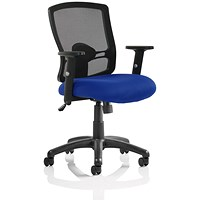 Trexus Mesh Chair, Fabric Seat, Blue