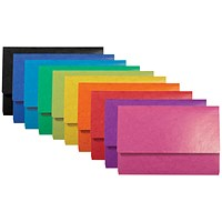 Iderama Document Wallets, Assorted, Foolscap, Pack of 25
