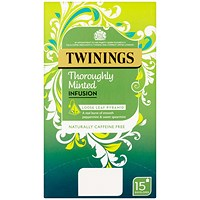 Twinings Minted Infusion Tea Bags - Pack of 15