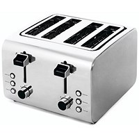 Igenix 4 Slice Long Toaster - Stainless Steel