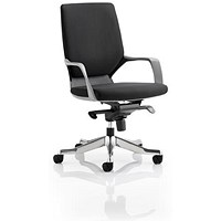 Adroit Xenon Medium Back Executive Chair, Black Shell, Black Fabric