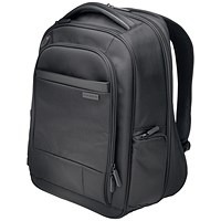 Kensington Contour 2.0 Laptop Backpack, 15.6 inch Capacity, Black