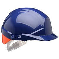 Centurion Reflex Safety Helmet - Blue with Orange Rear Flash