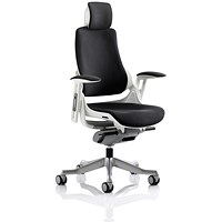 Adroit Zure Chair with Headrest, Black