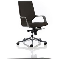 Adroit Xenon Medium Back Executive Chair, Black Shell, Black Leather