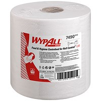 WypAll Centrefeed Hand Towel Roll, 1- ply, White, 6 Rolls of 630 Sheets