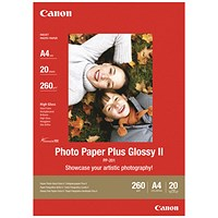 Canon PP201 Glossy Photo Paper, 130x180mm, White, 260gsm, Pack of 20