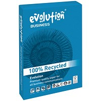 Evolution Business A4 Recycled Paper, White, 80gsm, Ream (500 Sheets)