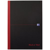 Black n Red Notebook, B5, Casebound, Ruled, Pack of 5