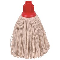 Robert Scott & Sons Smooth Surface Mop Head, Socket, Twine, 16oz, Red, Pack of 10