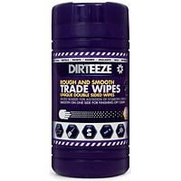 Dirteeze Rough & Smooth Wipes, Dispenser Tub, 220 x 200mm, 80 Wipes