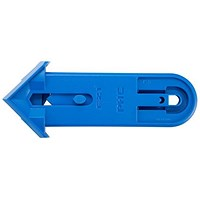 Pacific Handy Cutter Safety Cutter, Spring Back Blade, Ambidextrous, Blue