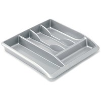 Addis High Gloss Drawer Organiser - Metallic Silver