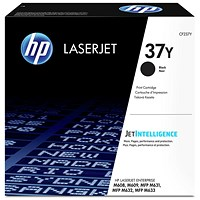 HP 37X Black High Yield Laser Toner Cartridge