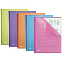 Elba Bright A4 Display Book, 20 Pockets, Assorted, Pack of 10