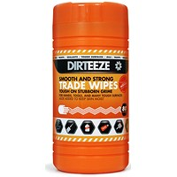 Dirteeze Smooth & Strong Trade Wipes, Dispenser Tub, 300 x 200mm, 80 Wipes