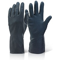 Click 2000 Household Gloves, Heavy Weight, Large, Black, Pack of 10