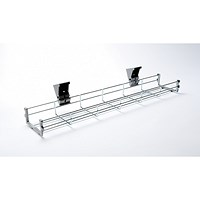 Trexus Bench Desk Cable Basket / 1400mm Desk / Silver