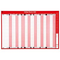 5 Star 2020 Holiday Planner, Unmounted, 915x610mm