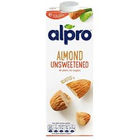 Alpro Almond Milk, Unsweetened, 1 Litre, Pack of 8
