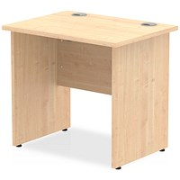 Trexus 800mm Slim Rectangular Desk, Panel Legs, Maple