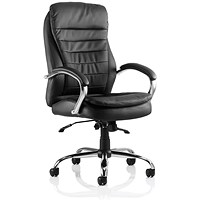 Trexus Rocky High Back Leather Executive Chair, Black