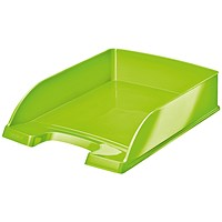 Leitz WOW Bright Stackable Letter Tray - Glossy Green