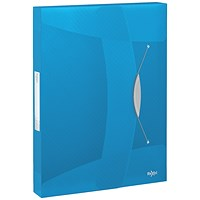Rexel Choices Box File, 40mm Spine, A4, Transparent Blue
