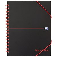 Black n' Red Plastic Wirebound Meeting Book, A5+, Pack of 5