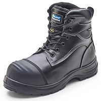 Click Traders Trencher Boots, Impact Protect, PU/Rubber, Size 4, Black