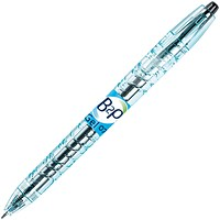 Pilot Begreen B2P Recycled Rollerball Pen, Retractable, 0.7mm Tip, 0.35mm Line, Black, Pack of 10