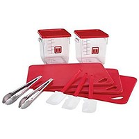 Rubbermaid 12 Piece Food Service Kit - Red
