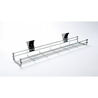 Trexus Bench Desk Cable Basket / 1600mm Desk / Silver