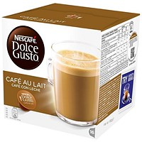 Nescafe Cafe Au Lait Capsules for Dolce Gusto Machine - Pack 48