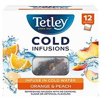 Tetley Cold Infusions Peach and Orange - Pack of 12