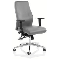 Adroit Onyx Ergo Posture Chair, Leather, Grey