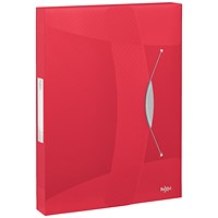 Rexel Choices Box File, 40mm Spine, A4, Transparent Red