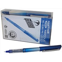 Uni-ball UB-185S Eye Needle Rollerball Pen, 0.5mm, Blue, Pack of 12