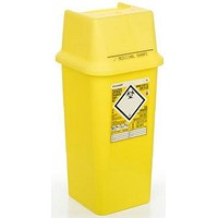 Click Medical Sharps Bin, Temporary & Final Closure Feature, 7 Litre, Yellow