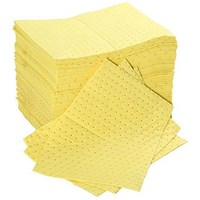 Fentex Chemical Absorbent Pads, 100 Litres, 400 x 500mm, Yellow