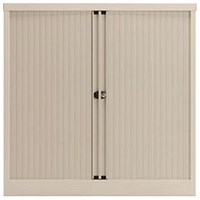 Trexus Medium Side Opening Tambour Cupboard, 1000mm High, White