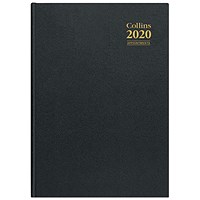 Collins 2020 Appointment Desk Diary, Week to View, A4, Assorted
