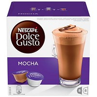 Nescafe Mocha Capsules for Dolce Gusto Machine - Pack of 48