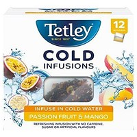 Tetley Cold Infusions Passion Fruits and Mango - Pack of 12