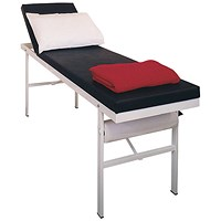 Click Medical First Aid Room Couch, Epoxy Coated, Square Steel Frame