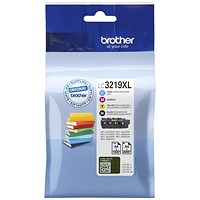 Brother LC3219XLVAL High Yield Inkjet Cartridge Value Pack - Black, Cyan, Magenta, Yellow (4 Cartridges)
