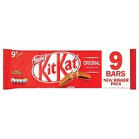 Nestle Kit Kat Bars Milk Chocolate 2 Fingers - Pack of 9